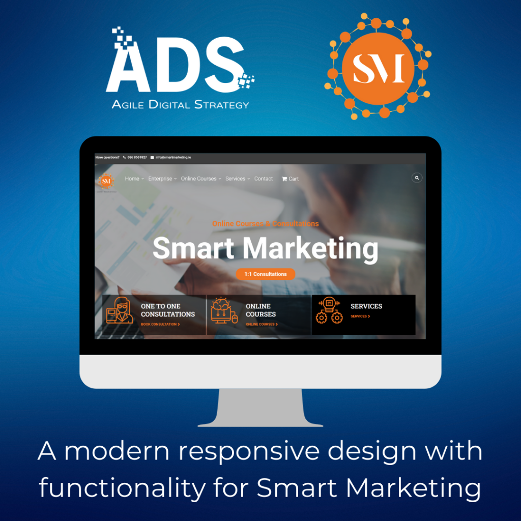Modern Responsive Design with functionality for Case Study Smart Marketing Agile Digital Strategy