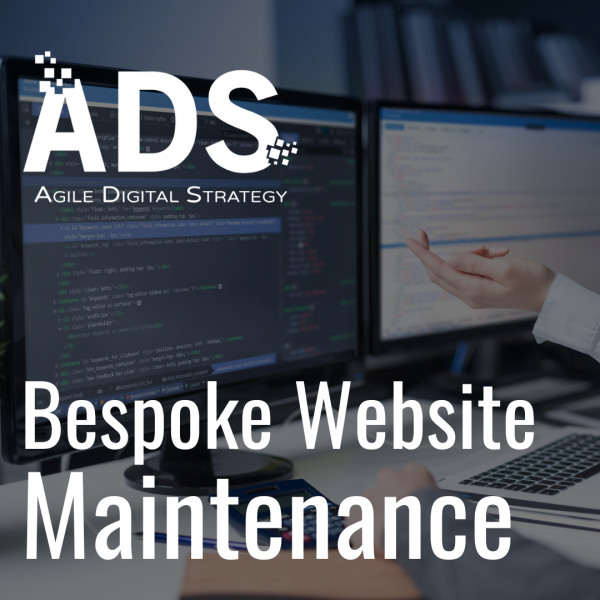 Bespoke Website Maintenance available from Agile Digital Strategy