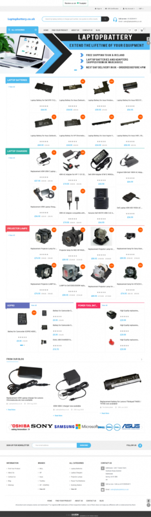 SEO & Ecommerce Website Redesign Of Laptop Battery