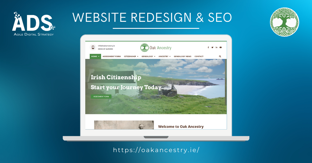 Website Redesign and SEO of Oak Ancestry - Agile Digital Strategy