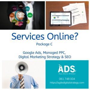 Trading Online Voucher Packages with Agile Digital Strategy package c with SEO
