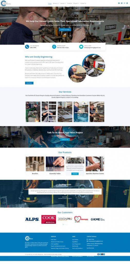 eCommerce Website Design of Doody Engineering