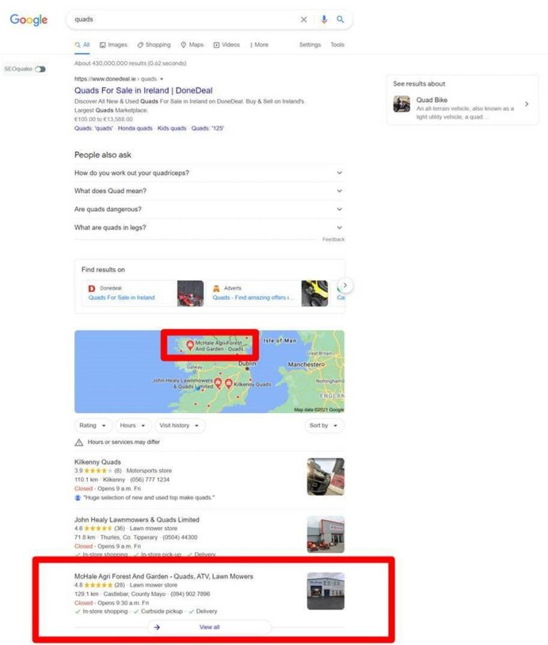 Mchale Agri - Google My Business Local SEO