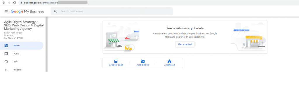 Business listing on Google My Business for SEO Optimisation
