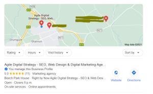 Google My Business SEO Optimization Map result